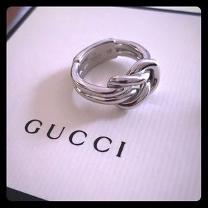 💕 Authentic Gucci S. Silver ring